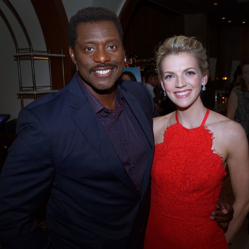 """NBCUNIVERSAL EVENTS -- """"One Chicago Day"""" -- Pictured: (l-r) Eamonn  Walker, """"Chicago Fire"""" and Kara Killmer, """"Chicago Fire"""" a"""