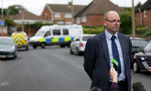 Detective chief inspector Matin Slevin speaks to media outside the property; police have revealed the...