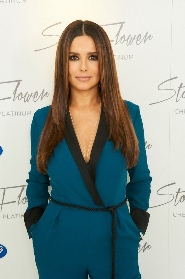 Cheryl Launched 'StormFlower Platinum' Perfume In Plunging Blue