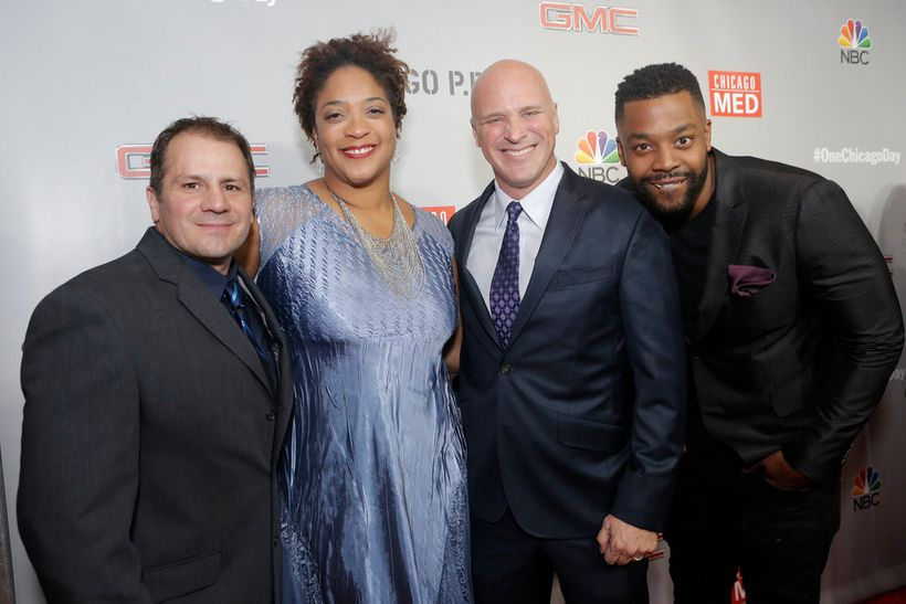 """NBCUNIVERSAL EVENTS -- """"One Chicago Day"""" -- Pictured: (l-r) Tony  Ferraris, DuShon Brown, Randy Flagler, LaRoyce Hawkins at t"""