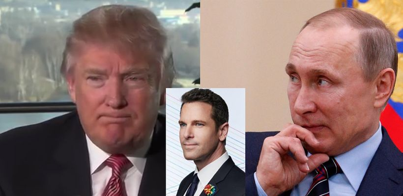 Center: MSNBC anchor Thomas Roberts, who hosted the 2013 Miss Universe Contest in Moscow