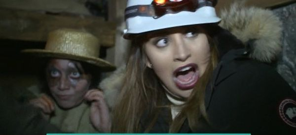 Ferne McCann Tells Alison Hammond She's, Errrm, Had An Accident In Halloween Horror Maze
