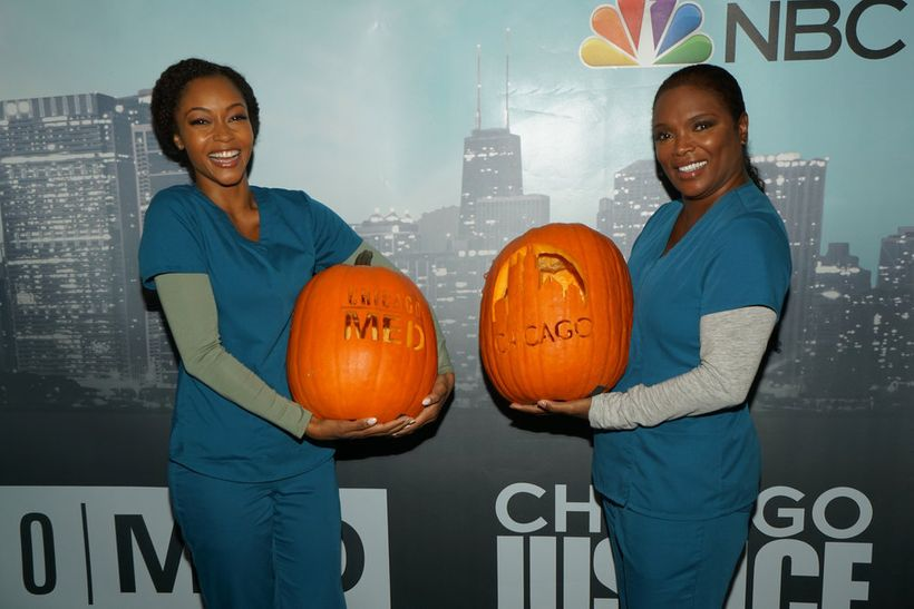 """NBCUNIVERSAL EVENTS -- """"One Chicago Day"""" -- Pictured: (l-r) Yaya  DaCosta, Marlyne Barrett, """"Chicago Med"""" at the """"One Chicago"""