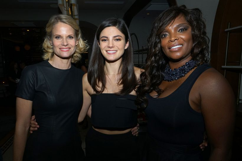 """NBCUNIVERSAL EVENTS -- """"One Chicago Day"""" -- Pictured: (l-r) Joelle  Carter, """"Chicago Justice"""", Monica Barbaro, """"Chicago Justi"""