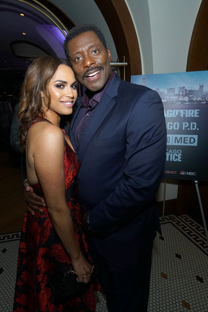 """NBCUNIVERSAL EVENTS -- """"One Chicago Day"""" -- Pictured: (l-r) Monica  Raymund, """"Chicago Fire"""" and Eamonn Walker, """"Chicago Fire"""""""