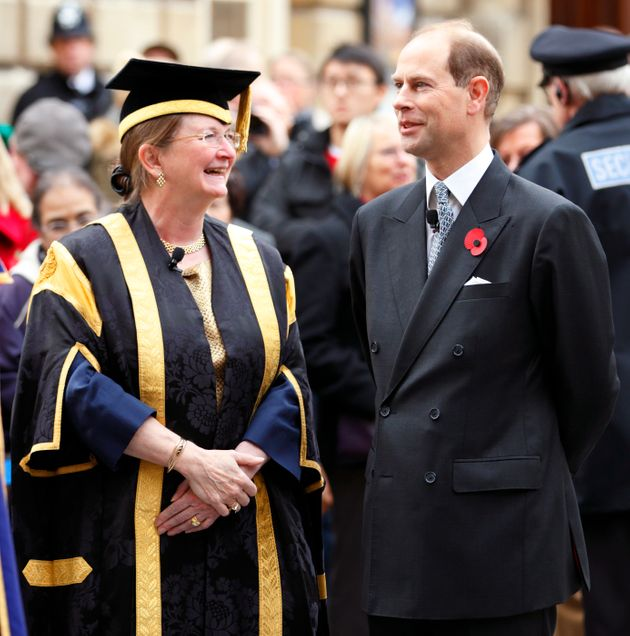Vice Chancellor Professor Dame Glynis Breakwell, with the university's Chancellor, Prince Edward, Earl...