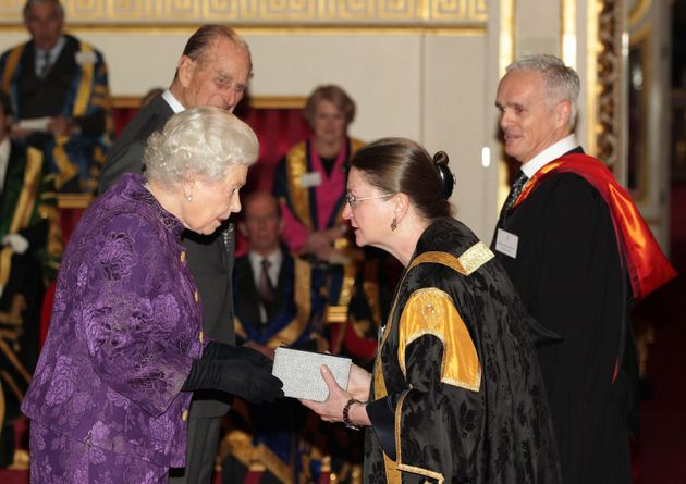 Breakwell receiving a Royal Anniversary Prize for Higher and Further Education from the Queen and Prince...