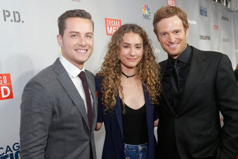 """NBCUNIVERSAL EVENTS -- """"One Chicago Day"""" -- Pictured: (l-r) Jesse Lee  Soffer, """"Chicago P.D.""""; Rachel DiPillo, Nick Gehlfuss,"""