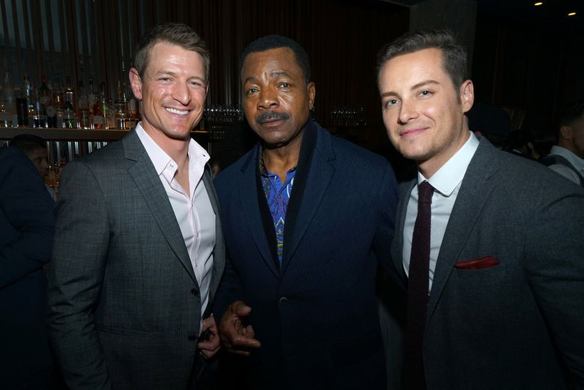 """NBCUNIVERSAL EVENTS -- """"One Chicago Day"""" -- Pictured: (l-r) Philip  Winchester, """"Chicago Justice"""", Carl Weathers, """"Chicago Ju"""