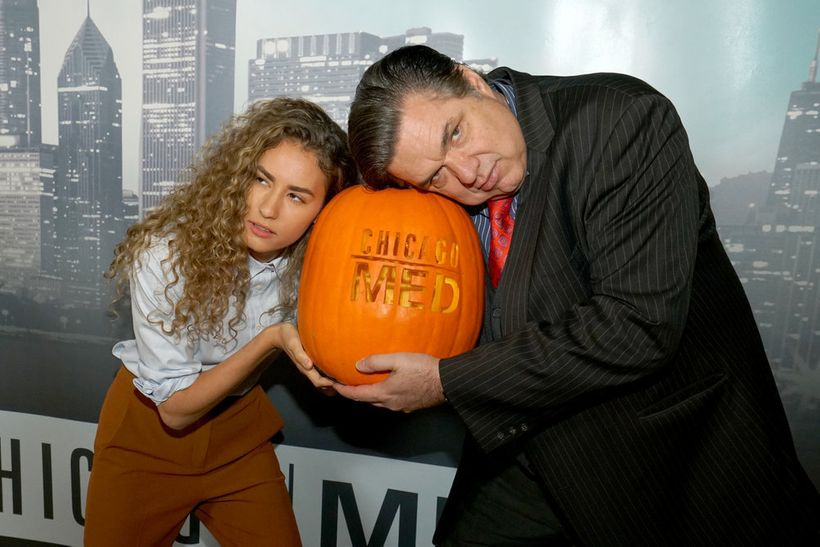 """NBCUNIVERSAL EVENTS -- """"One Chicago Day"""" -- Pictured: (l-r) Rachel  DiPillo, Oliver Platt, """"Chicago Med"""" at the """"One Chicago"""