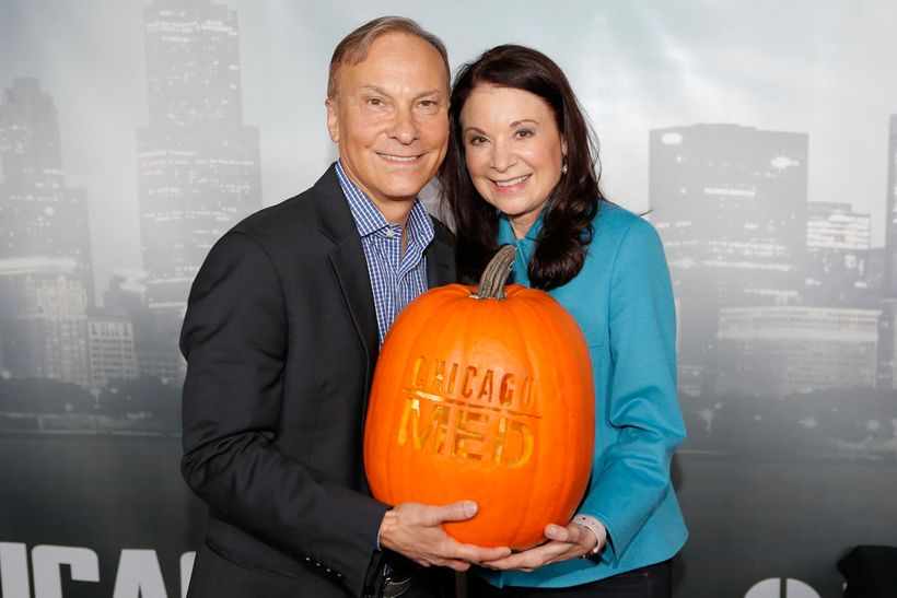 """NBCUNIVERSAL EVENTS -- """"One Chicago Day"""" -- Pictured: (l-r) Andrew  Schneider, Executive Producer, Chicago Med; Diane Frolov,"""