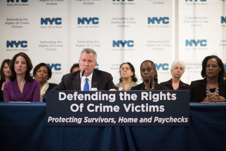 New legislation announced by Mayor Bill de Blasio would allow domestic violence survivors paid time off from work.