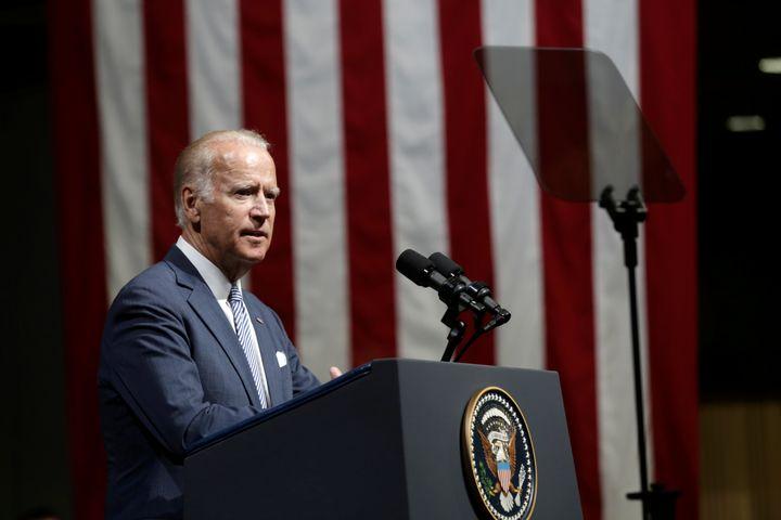 U.S. Vice President Joe Biden delivers a speech in Riga, Latvia, August 23, 2016.