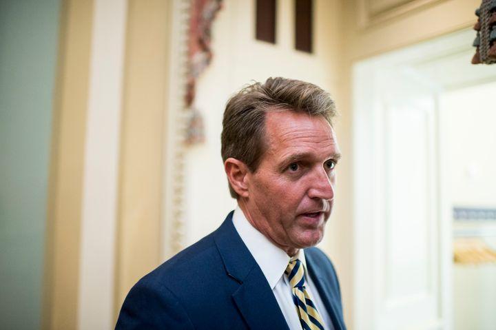 Sen. Jeff Flake (R-Ariz.)helped sink legislation that would have tightened criminal background checks on gun sales.&nbs
