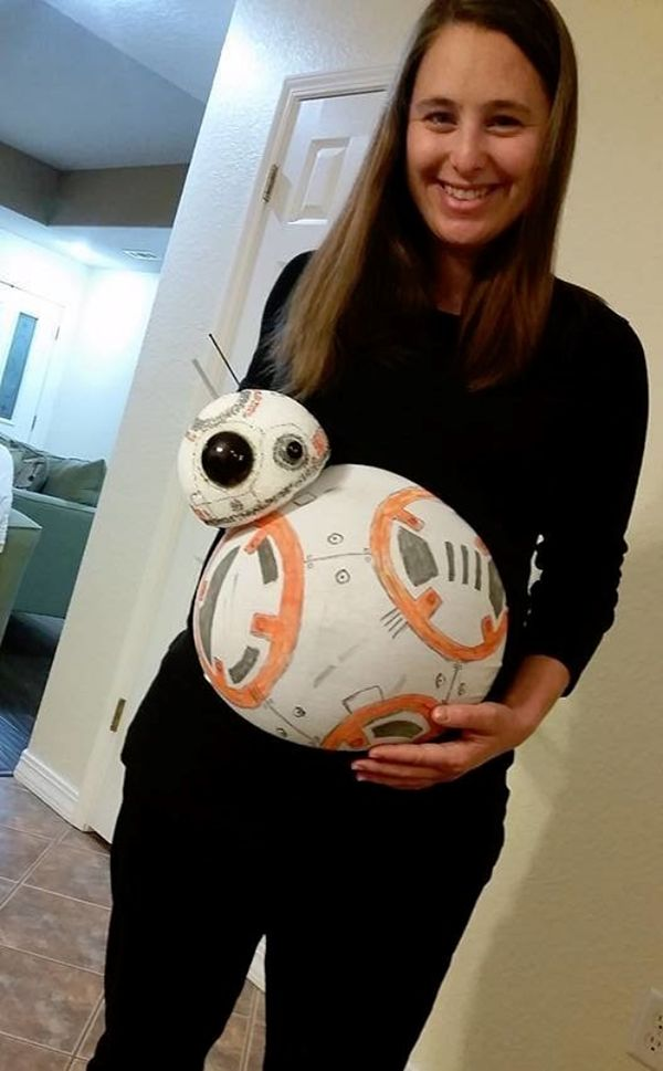 "Courtesy of <a href=""http://www.huffingtonpost.com/entry/star-wars-bb-8-pregnant-costume_us_56780f4ae4b06fa6887dd79f"">James S"