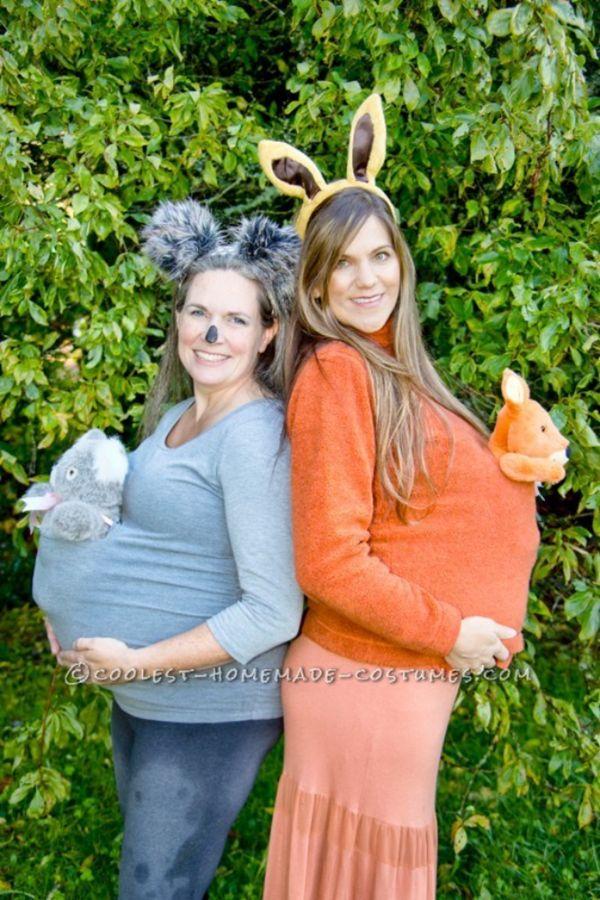 "Via <a href=""http://ideas.coolest-homemade-costumes.com/2014/11/17/cute-easy-maternity-costume-marsupial-mamas-koala-kangaroo"