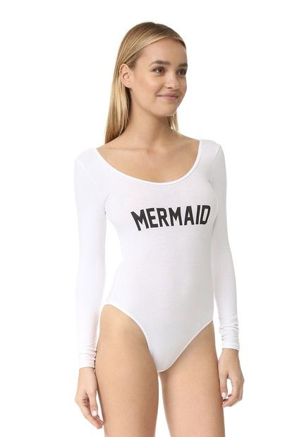 "Mermaid Body Suit, $58, <a href=""https://www.shopbop.com/mermaid-long-sleeve-bodysuit-private/vp/v=1/1559251894.htm?fm=search"