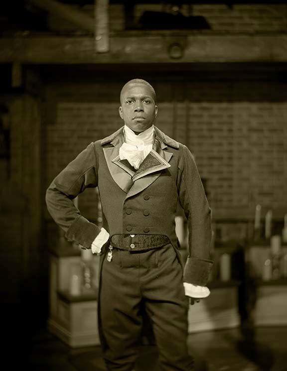 Leslie Odom Jr. as Aaron Burr.