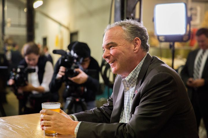 Sen. Tim Kaine (D-Va.) sat down with The Huffington Post for an interview in Columbus, Ohio.