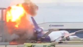FedEx plane catches fire at Ft Lauderdale airport