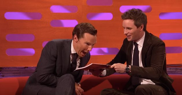 Benedict Cumberbatch and Eddie Redmayne meet up with Graham Norton