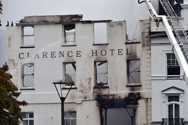 The Royal Clarence Hotel in Exeter, Devon, is now just a