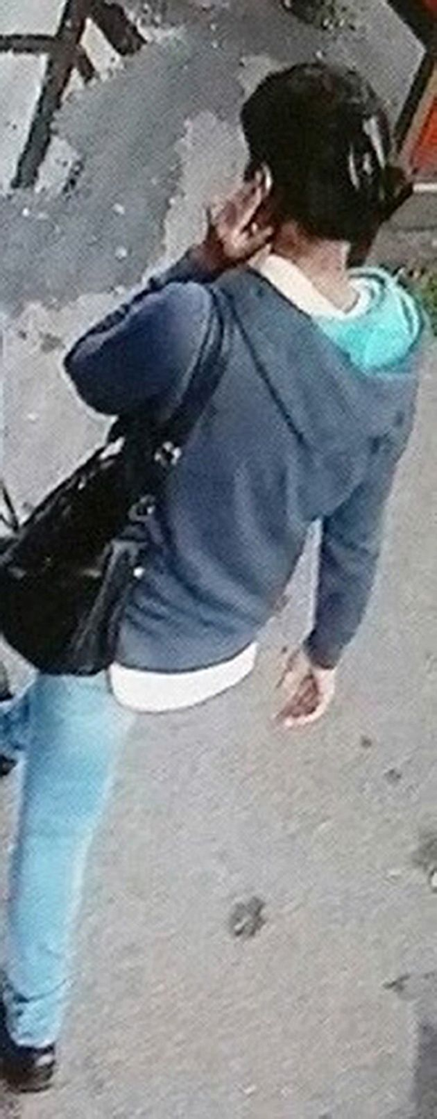Police are yet to locate Kaur's black handbag seen in this image of her on the day before she went