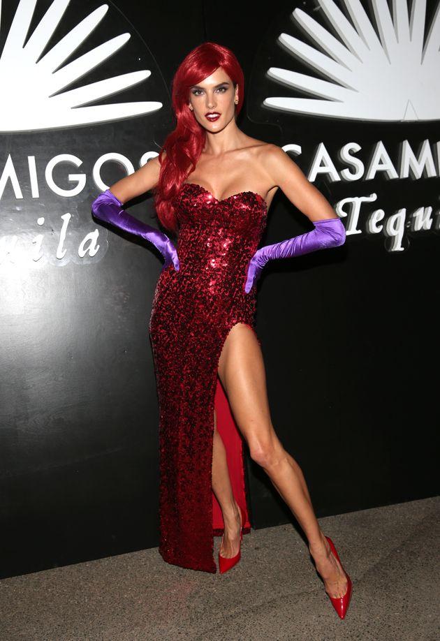 Alessandra Ambrosio arrives to the Casamigos Halloween