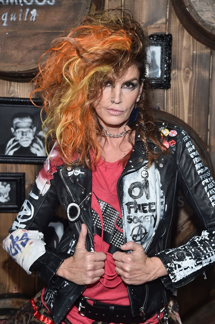 Cindy Crawford arrives to the Casamigos Halloween Party.