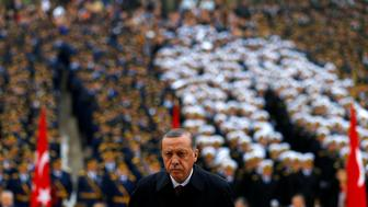 Turkey's President Tayyip Erdogan attends a Republic Day ceremony at Anitkabir, the mausoleum of modern Turkey's founder Ataturk, to mark the republic's anniversary in Ankara, Turkey, October 29, 2016.  REUTERS/Umit Bektas