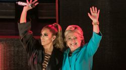 Hillary Clinton Joins JLo Onstage To Encourage Voters To 'Get