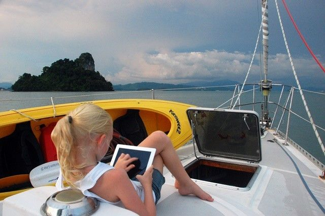 "<a href=""http://www.sailingtotem.com/books-for-cruisers"" target=""_blank"">Reading nook</a>."