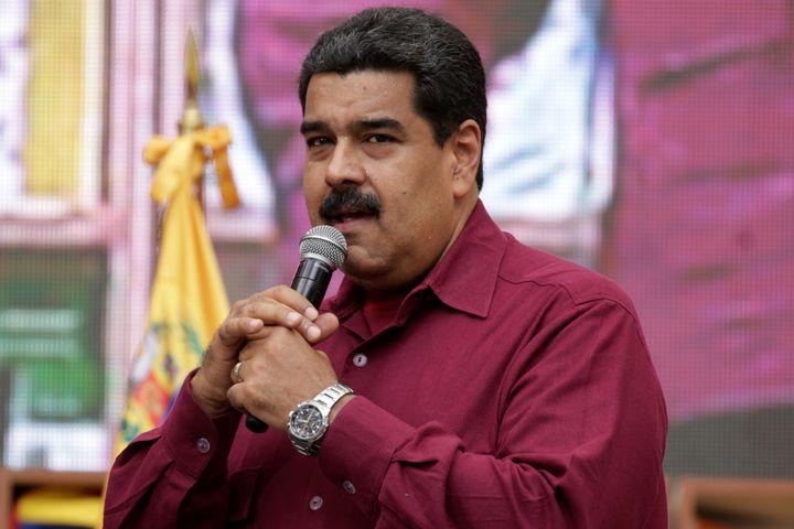 Venezuela's President Nicolas Maduro speaks during a pro-government rally in Caracas, Venezuela October 28, 2016.