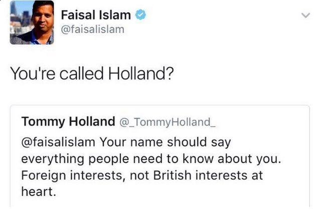 Sky News Political Editor Faisal Islam Shuts Down Racist With Hilarious