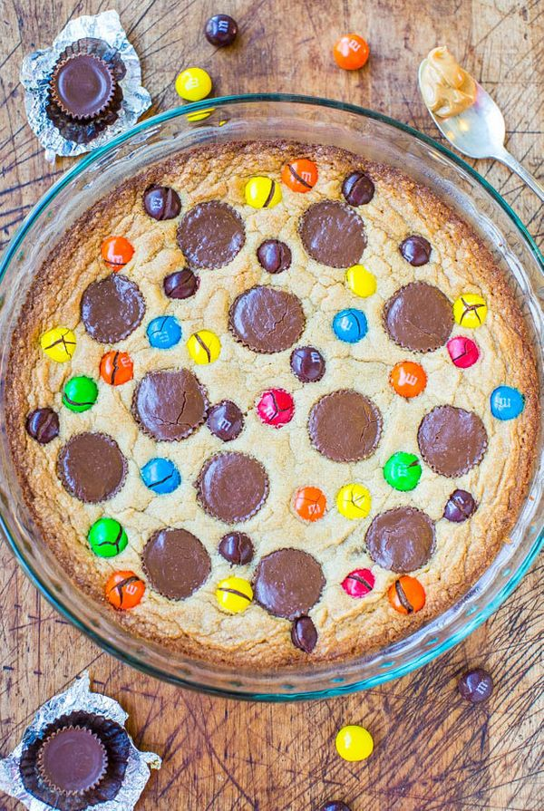 """<strong>Get the <a href=""""http://www.averiecooks.com/2014/01/triple-peanut-butter-cookie-pie.html"""" target=""""_blank"""">Triple Pean"""