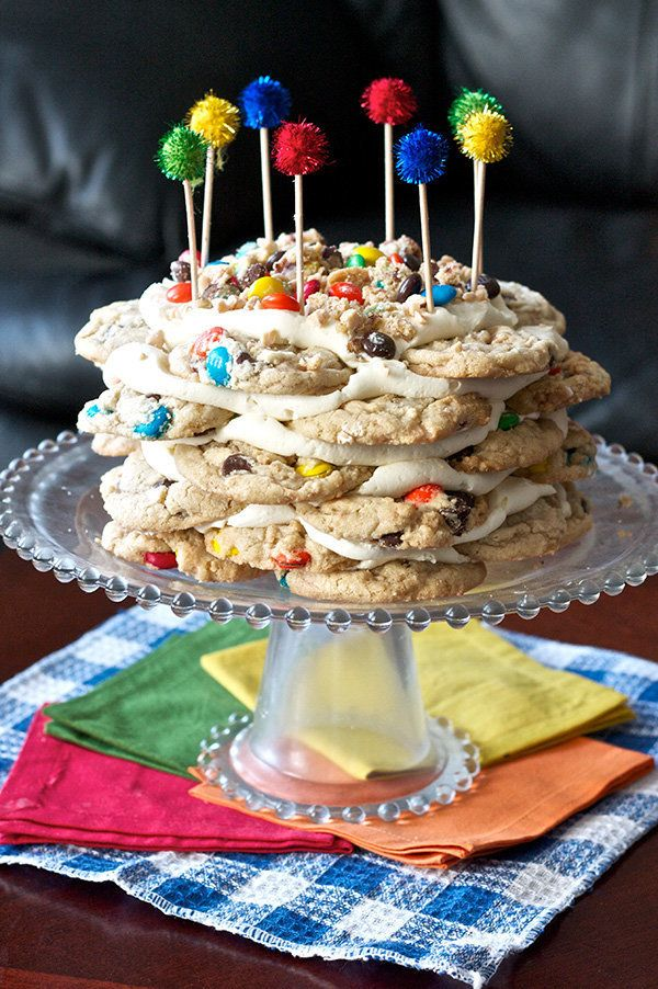 """<strong>Get the <a href=""""http://www.ericasweettooth.com/2013/06/mm-cookie-stack-cake.html"""" target=""""_blank"""">M&M Cookie Stack C"""