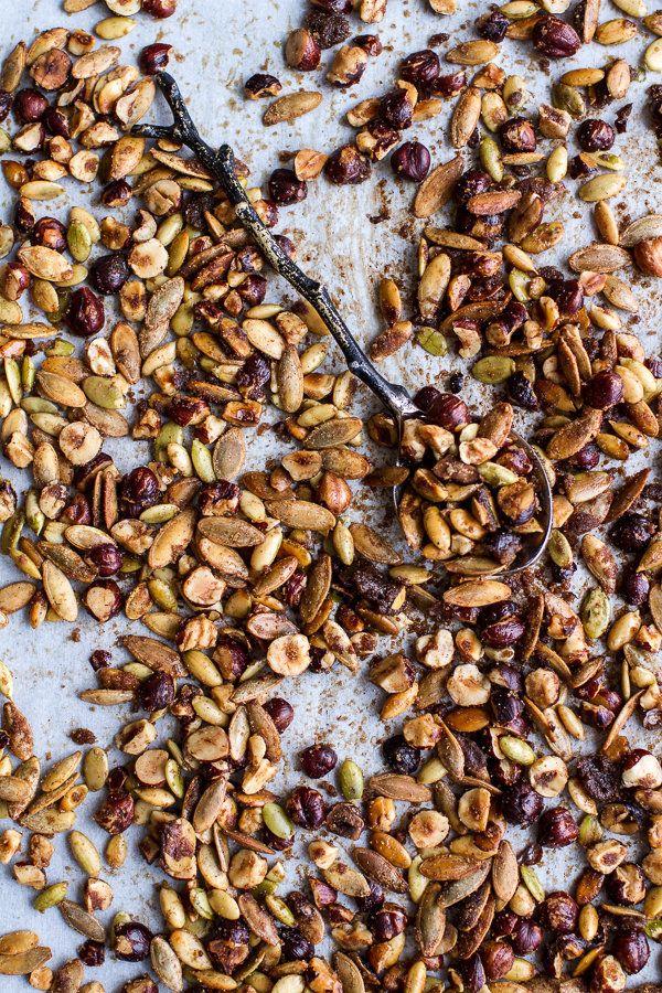 "<strong>Get the <a href=""http://www.halfbakedharvest.com/nutella-banana-tarte-tatin-cinnamon-sugar-roasted-pumpkin-seed-hazel"