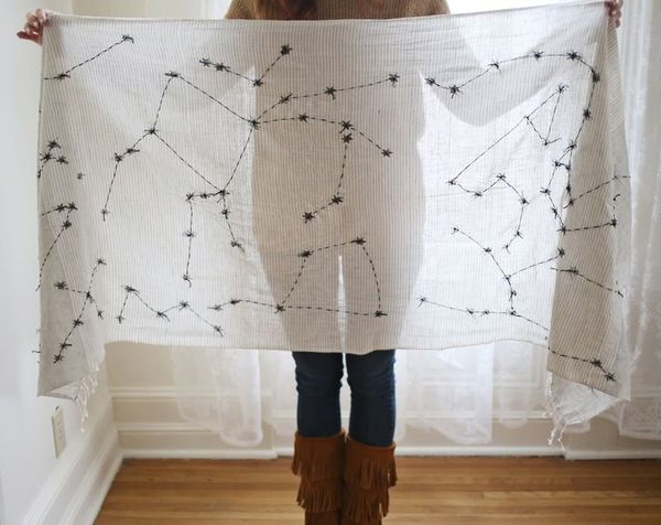"""<strong>Get the <a href=""""http://www.abeautifulmess.com/2013/01/diy-constellations-scarf.html"""" target=""""_blank"""">Constellation S"""