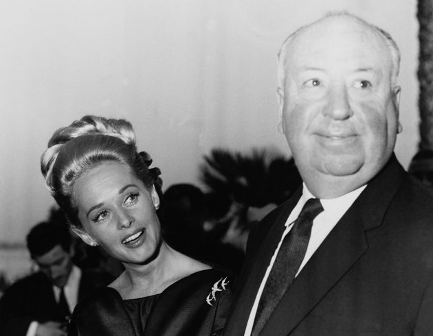 Tippi Hedren and Alfred Hitchcock at the Cannes Film Festival, May