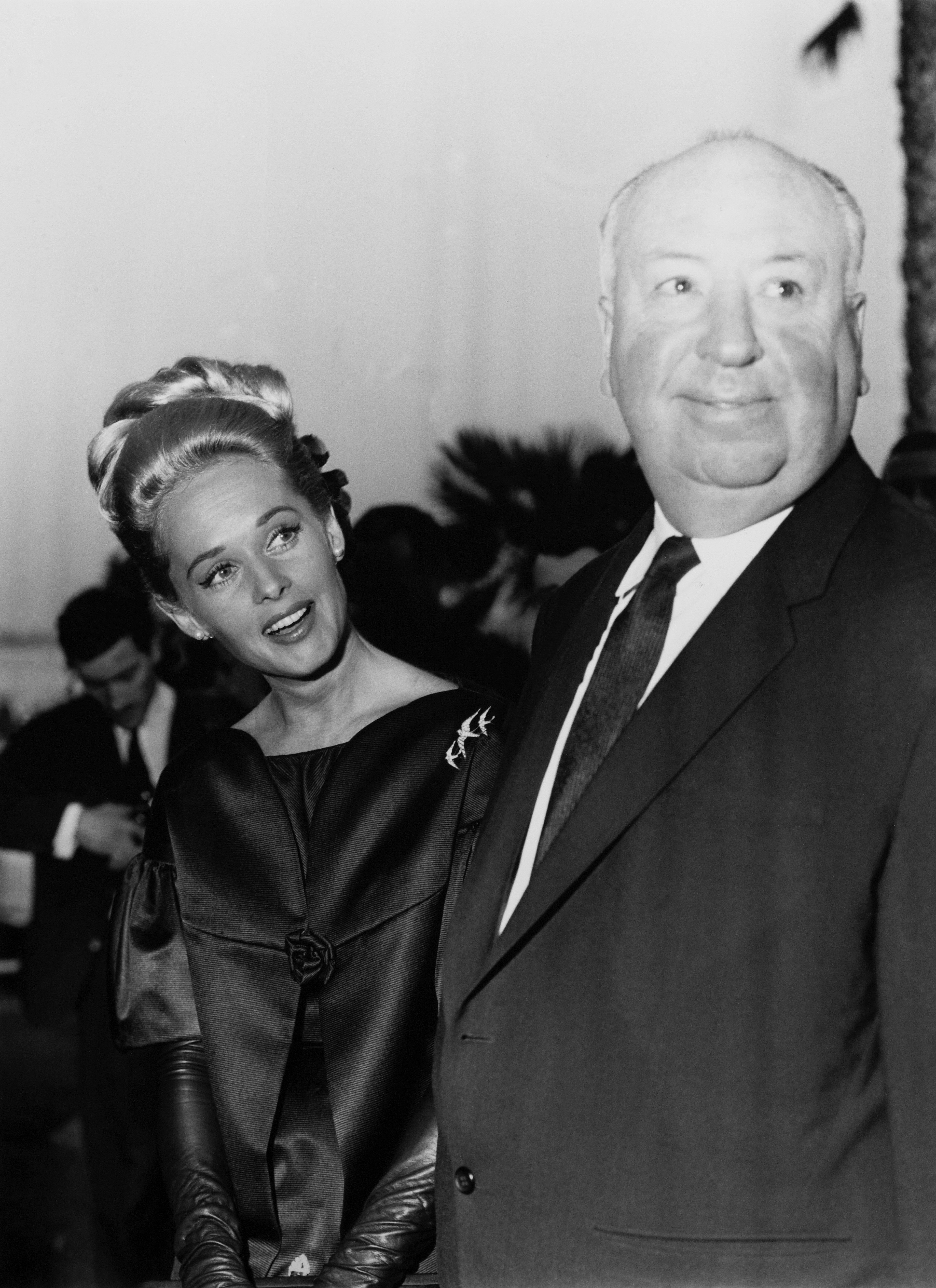 Tippi Hedren and Alfred Hitchcock at the Cannes Film Festival, May 1963.