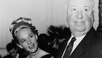 FRANCE - MAY 01:  Cannes Film Festival. Alfred Hitchcock And Tippi Hedren. May 1963.  (Photo by Keystone-France/Gamma-Keystone via Getty Images)