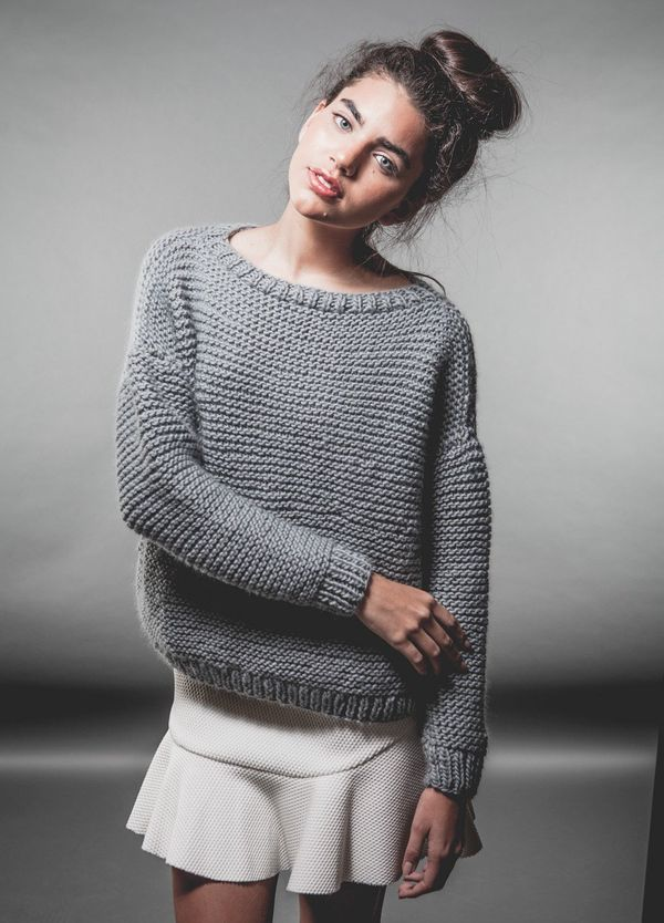"""<strong>Get the <a href=""""http://www.weareknitters.com/knitting-kits/sweaters/classic-sweater"""" target=""""_blank"""">Classic Sweater"""