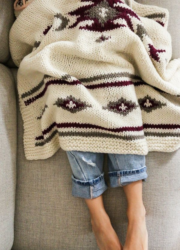 "<strong>Get the <a href=""http://www.weareknitters.com/knitting-kits/decoration/yoki-blanket"" target=""_blank"">Yoki Blanket Kit"