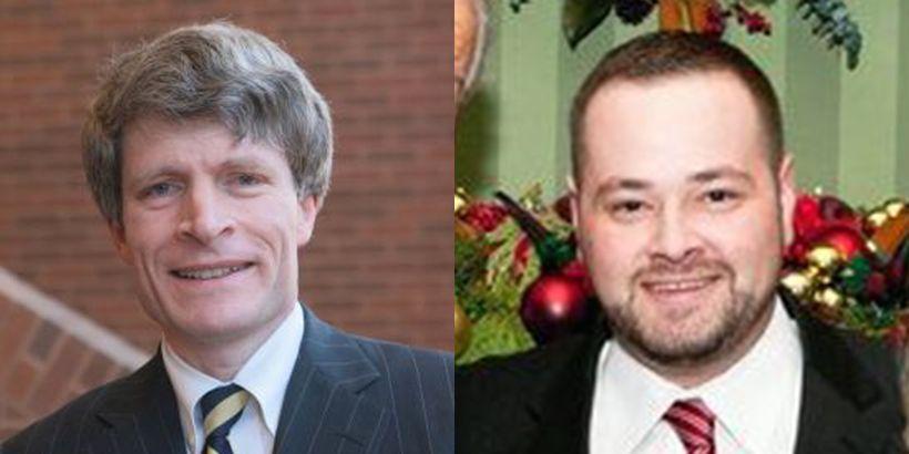 Left: Former Bush White House Counsel Richard Painter. Right: Scott Dworkin, Sr. Avisor to Democratic Coalition Against Trump