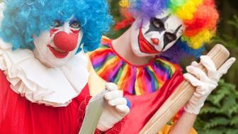 Two creepy clowns.