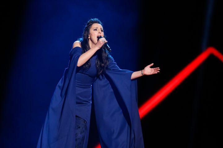 Jamala performing in Stockholm
