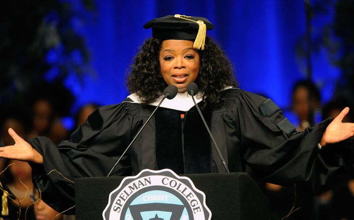 Oprah graduated from Tennessee State University and it looks like she's doingjust fine.