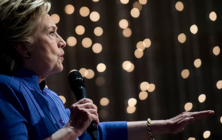 Hillary Clinton was left in an awkward position following the FBI director's letter on Friday.