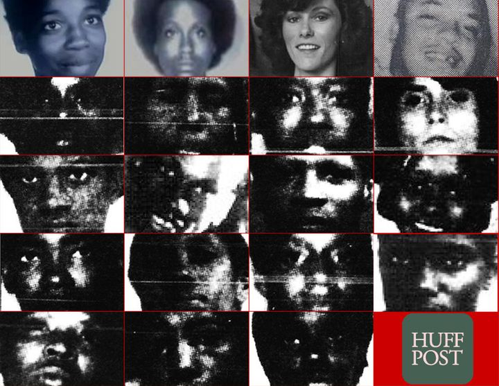 A selection of available images of victims that police say are investigatedas possibly being connected to theLaPl
