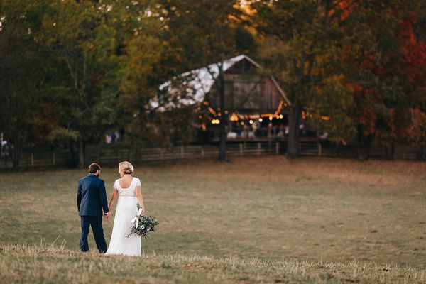 """Amanda and JT were married in a beautiful fall setting at RiverView Family Farms in Knoxville. I don't think that I could ha"